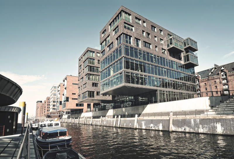 Hafencity in Hamburg royalty-vrije stock foto's