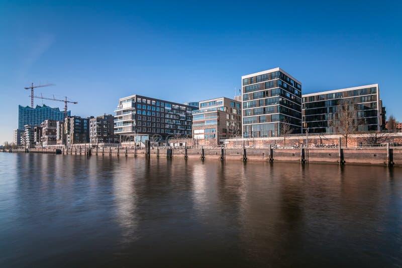 Hafencity in Hamburg royalty-vrije stock afbeeldingen