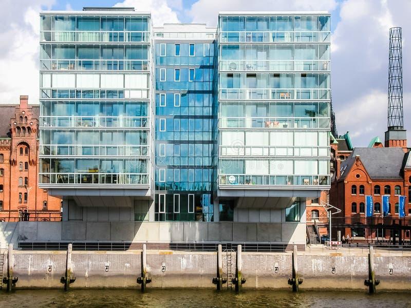 HafenCity w Hamburskim hdr obraz royalty free