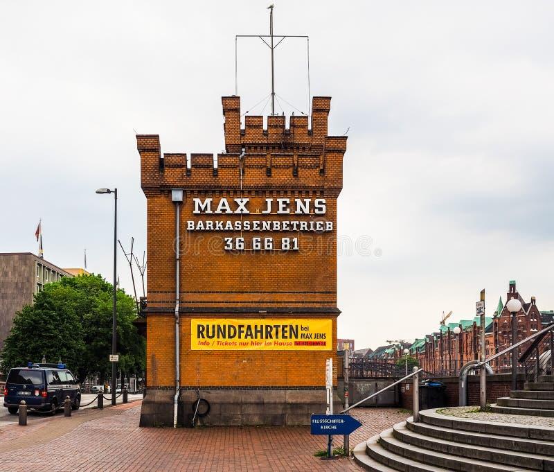 HafenCity w Hamburskim hdr fotografia stock