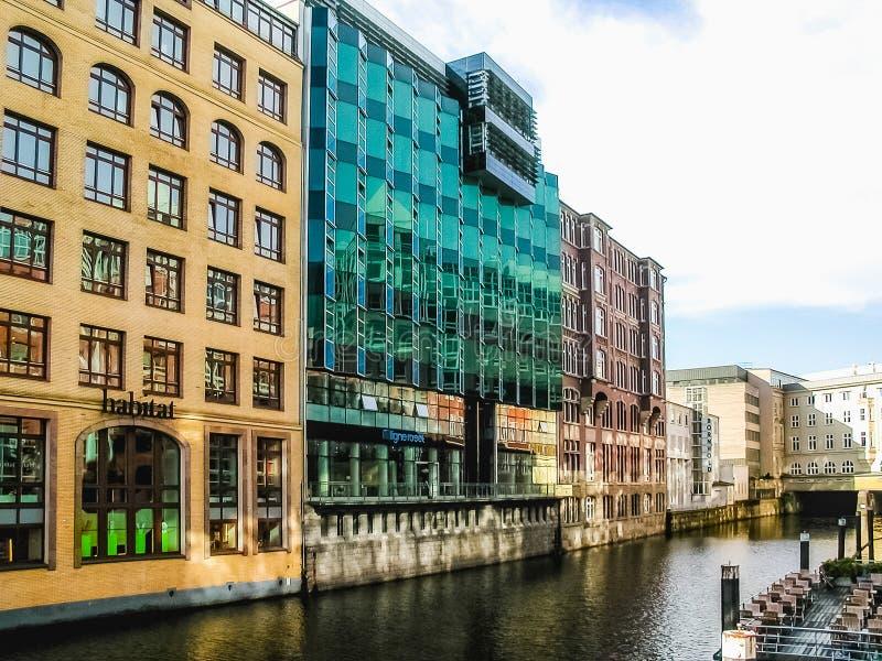 HafenCity w Hamburskim hdr obrazy royalty free