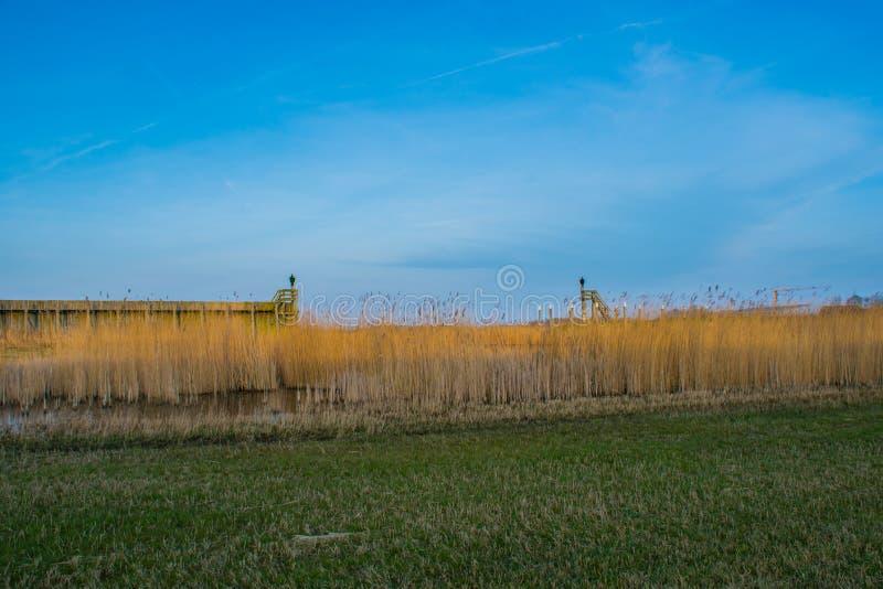 Hafeneingang der ehemaligen Insel Schokland lizenzfreies stockfoto