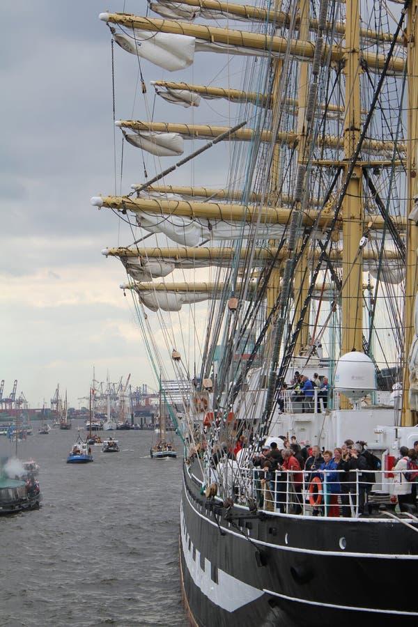 Hafengeburtstag Hamburg lizenzfreies stockbild