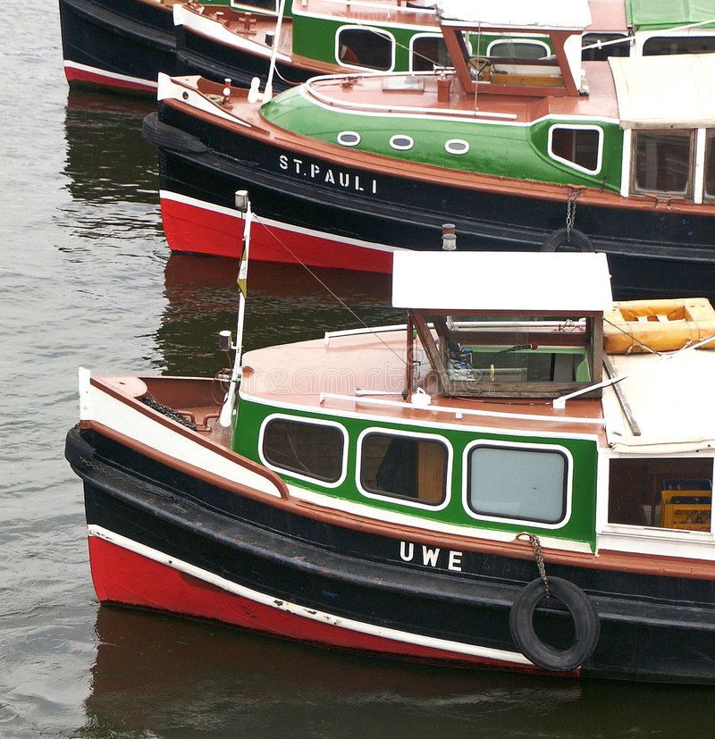 Hafenszene stockfoto