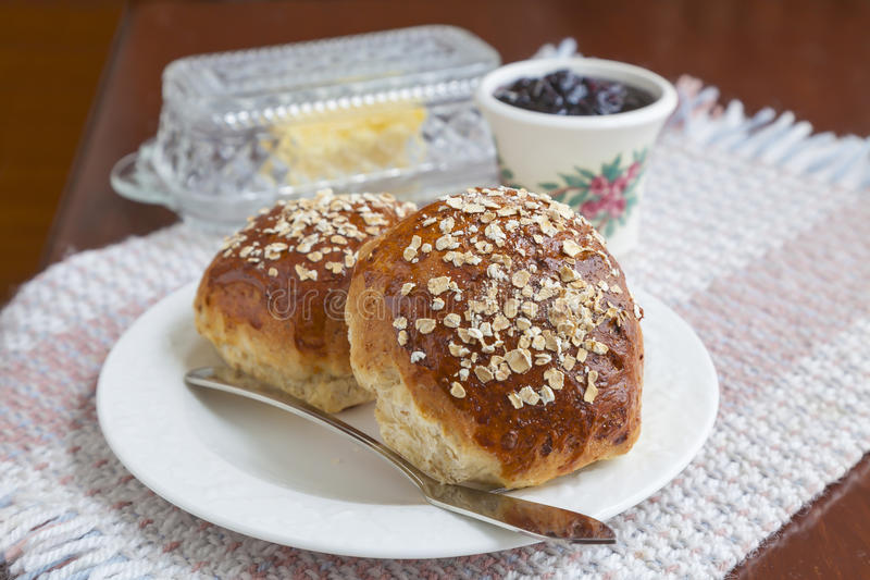 Hafermehl-Melasse-Brot lizenzfreie stockfotos