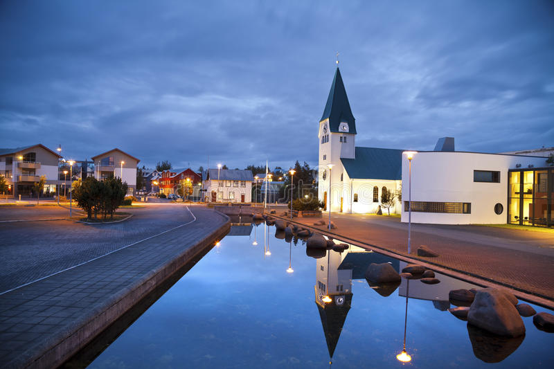 Hafnarfjordur, IJsland. royalty-vrije stock foto