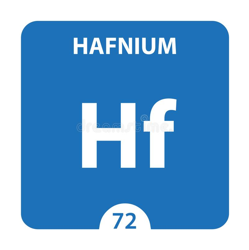Hafnium Chemical 72 élément du tableau périodique Contexte De La Molécule Et De La Communication Hafnium Chemical Hf, laboratoire illustration libre de droits