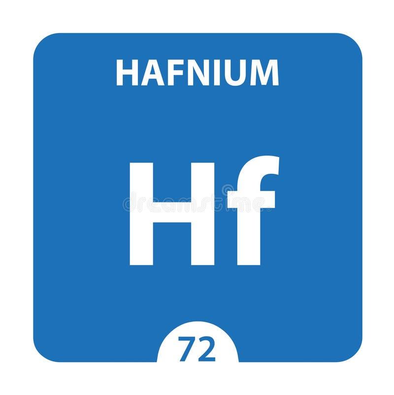 Hafnium Chemical 72 pierwiastek układu okresowego Tło Molekułu I Komunikacji Hafnium Chemical Hf, laboratorium i nauka royalty ilustracja