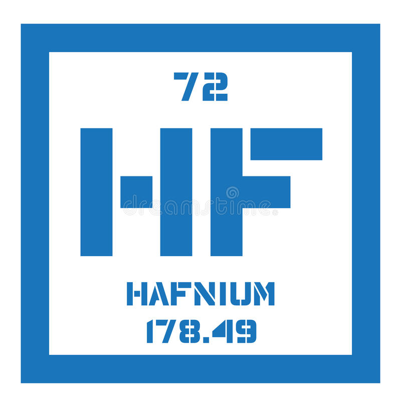 Hafnium chemisch element royalty-vrije illustratie