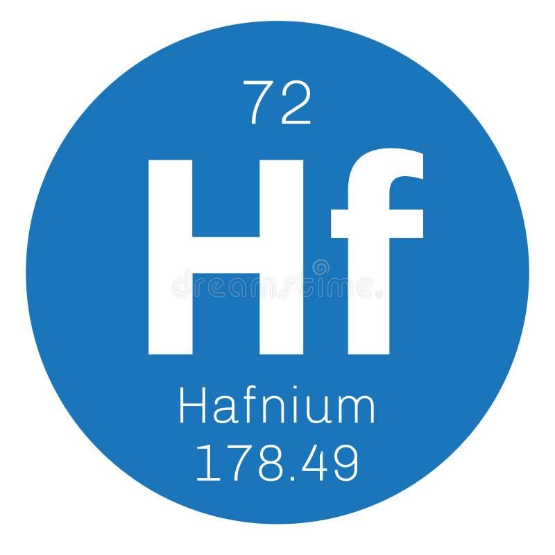 Hafnium chemisch element vector illustratie