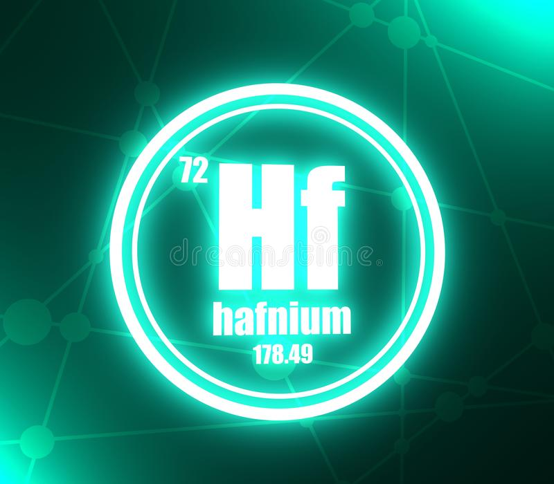 Hafnium chemisch element stock illustratie