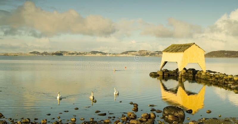 Hafrsfjord stock afbeelding