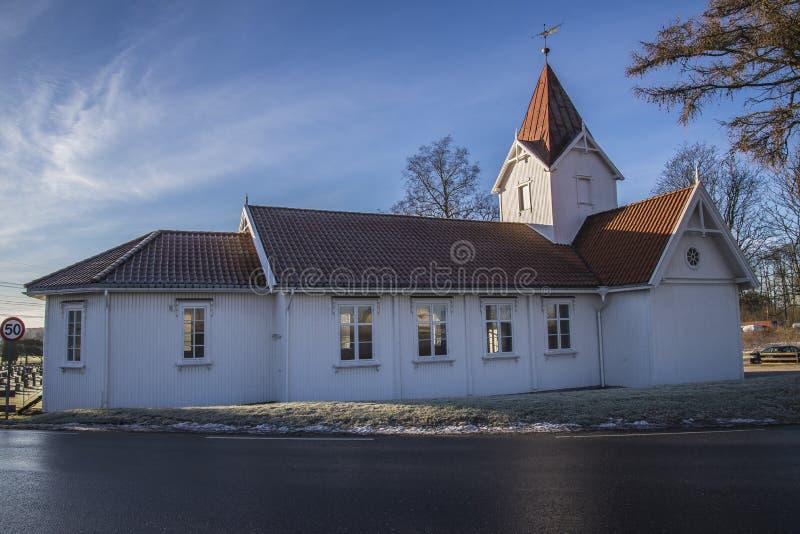 Hafslund kyrka (norden) arkivfoto