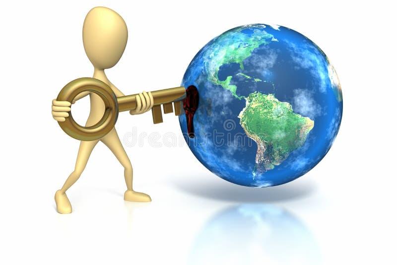 Haften Sie Abbildung Einfügetaste in Welt lizenzfreie abbildung