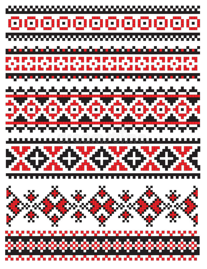 haftuje deseniowego pieluchy ukrainian royalty ilustracja