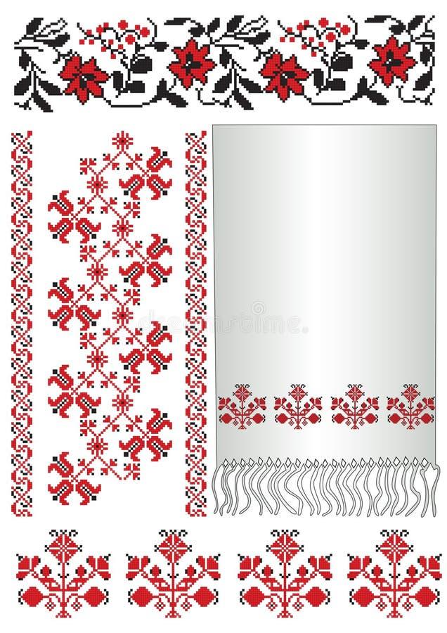 haftuje deseniowego Poltava ręcznika ukrainian royalty ilustracja