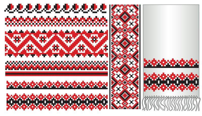 haftuje deseniowego ukrainian ilustracja wektor