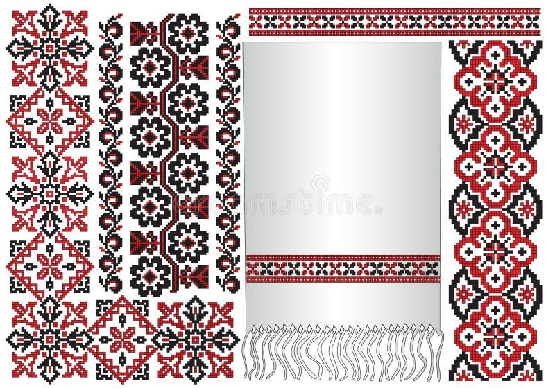 haftuje deseniowego ukrainian ilustracji