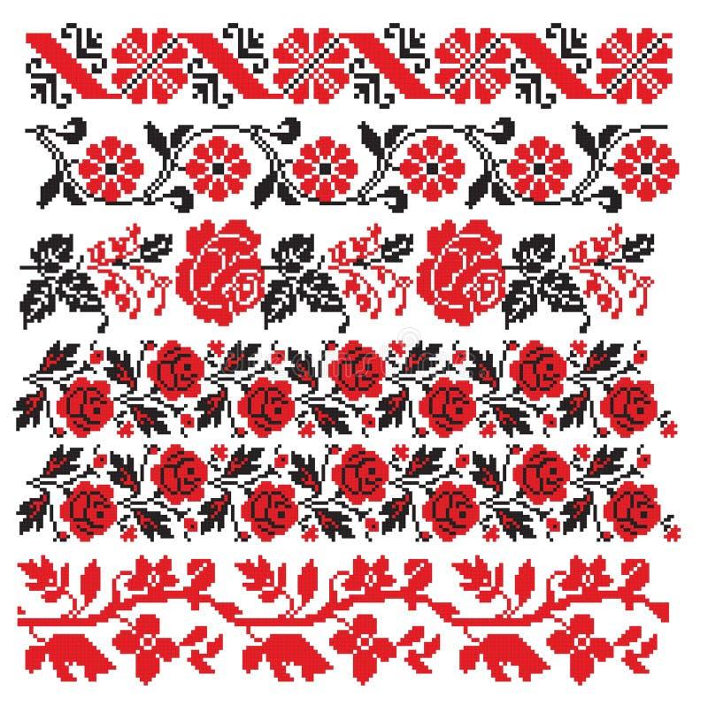 haftuje haftującego rosyjskiego ukrainian ilustracji