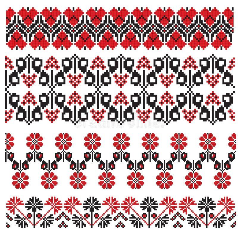 haftuje kwiatu ukrainian ilustracji