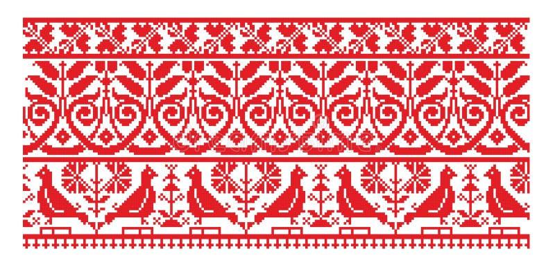 haftuje linię deseniowy ukrainian ilustracja wektor