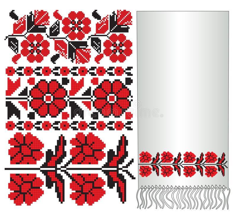 haftuje patern ukrainian ilustracji