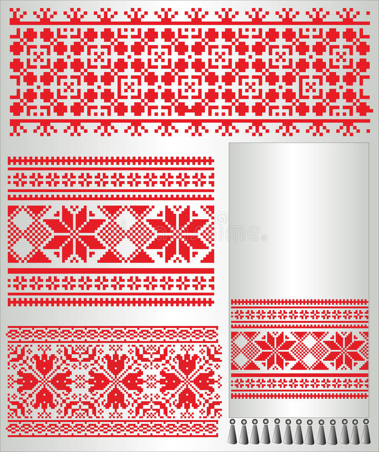 haftuje petern koszulowego ręcznikowego ukrainian ilustracji