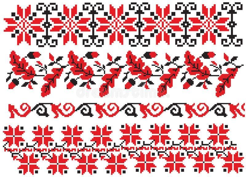 haftuje rosyjskiego ręcznikowego ukrainian royalty ilustracja
