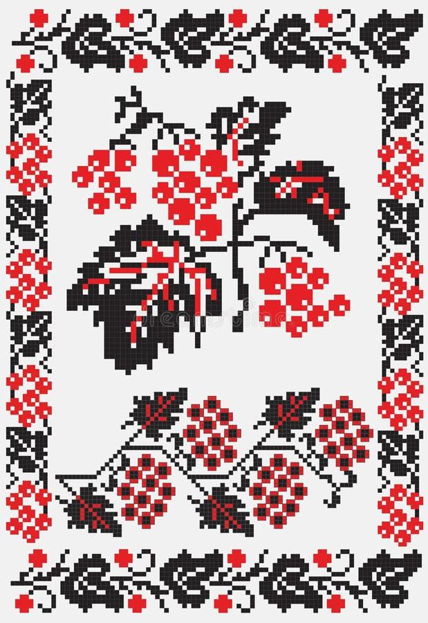 haftuje snowballtree ukrainian ilustracja wektor