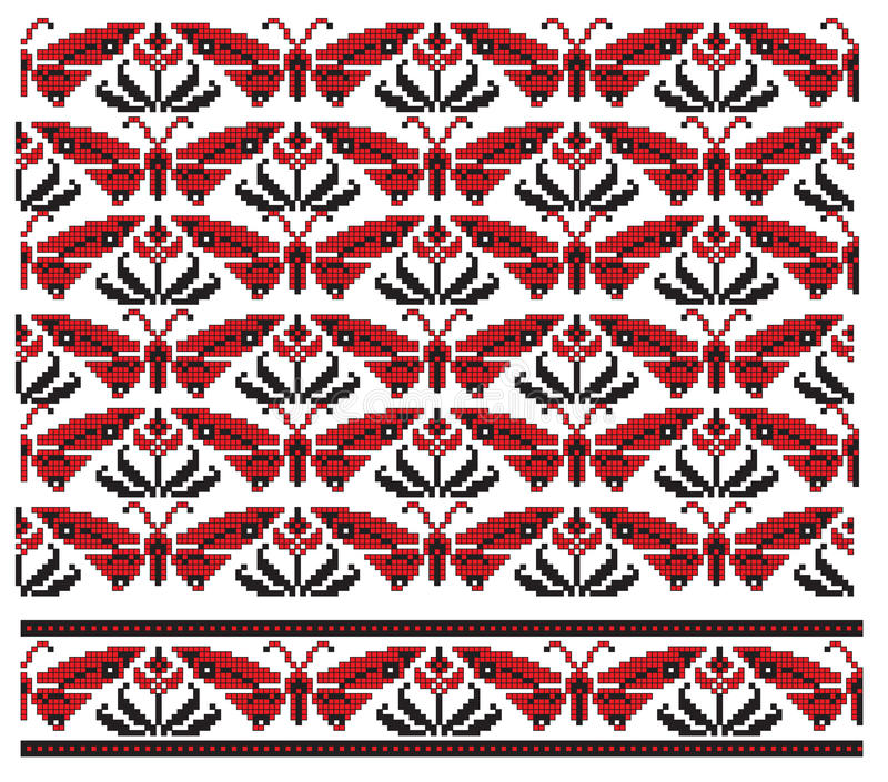 haftuje tekstury ukrainian royalty ilustracja