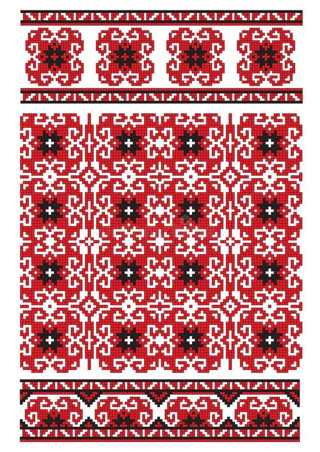 haftuje tekstury ukrainian ilustracja wektor