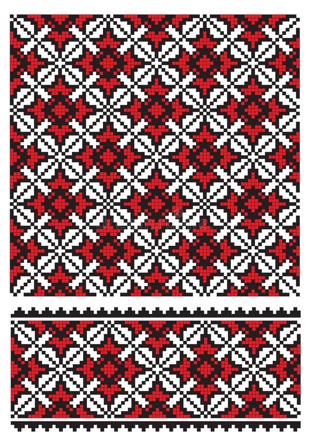 haftuje texure ukrainian ilustracja wektor