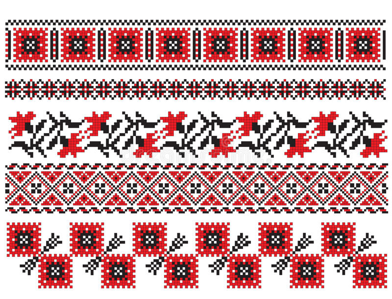 haftuje ukrainian ilustracja wektor