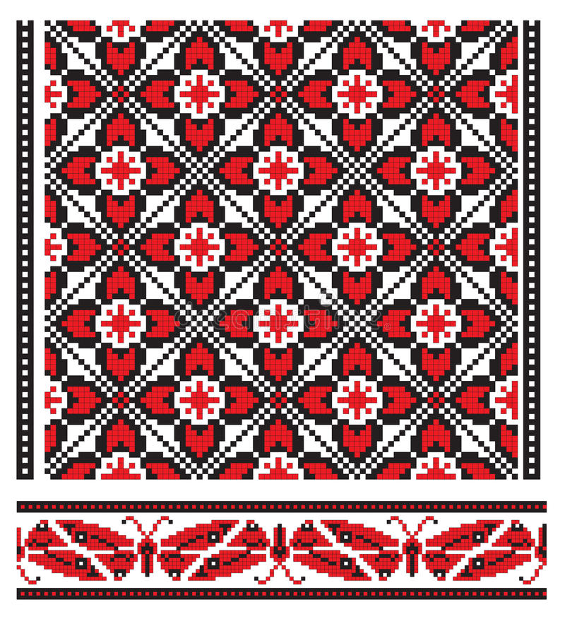 haftuje ukrainian royalty ilustracja