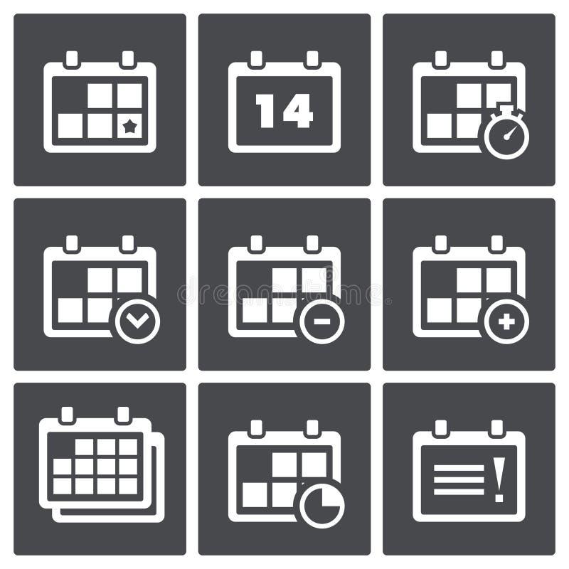 Download Haga Calendarios Con El Sistema Del Icono De Las Notas Stock de ilustración - Ilustración de cuenta, diseño: 42434987