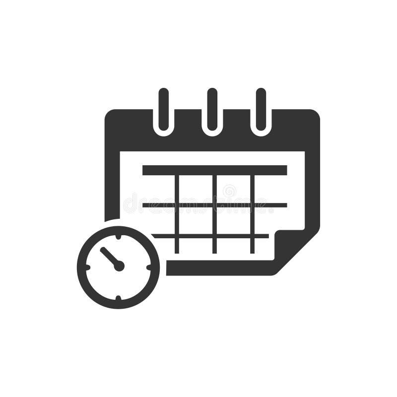 Haga calendarios el icono ilustración del vector