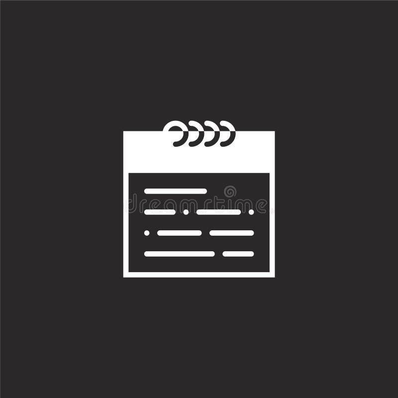 Haga calendarios el icono Icono llenado del calendario para el diseño y el móvil, desarrollo de la página web del app icono del c stock de ilustración
