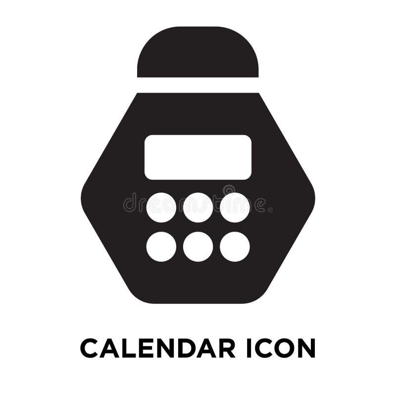 Haga calendarios el vector del icono aislado en el fondo blanco, concepto del logotipo stock de ilustración