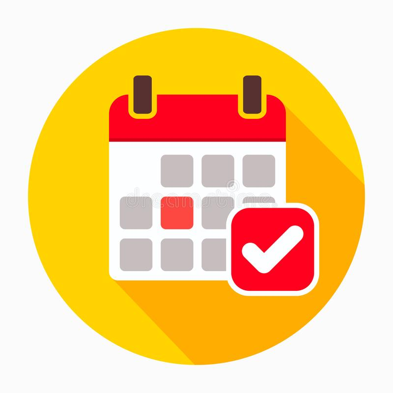 Haga calendarios el vector del icono, muestra plana llenada, pictograma sólido aislado en blanco Símbolo del recordatorio del eve libre illustration