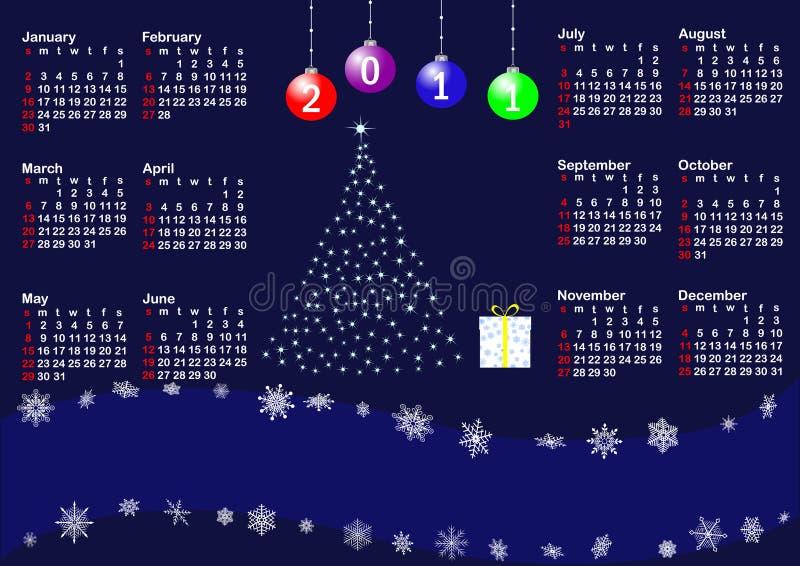 Haga calendarios para el vector del año 2011. ilustración del vector