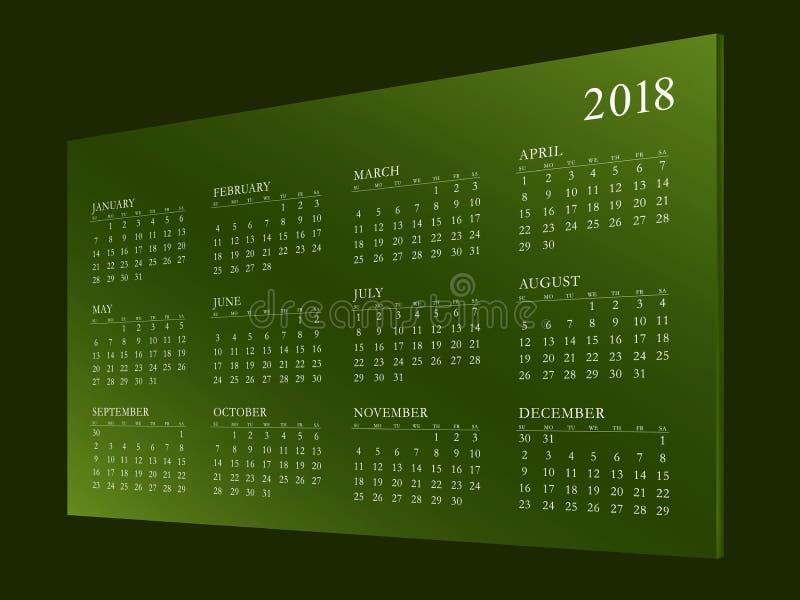 Haga calendarios por el año 2018 imagen de archivo