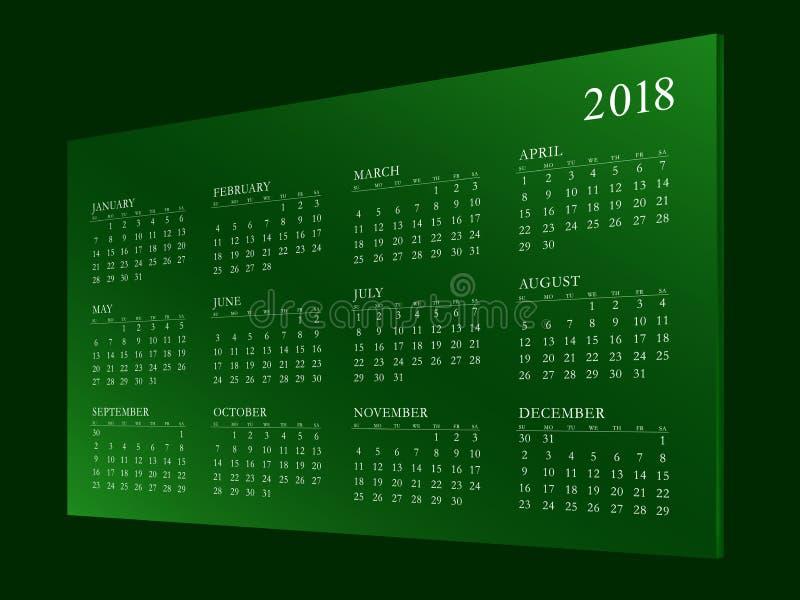 Haga calendarios por el año 2018 fotografía de archivo libre de regalías
