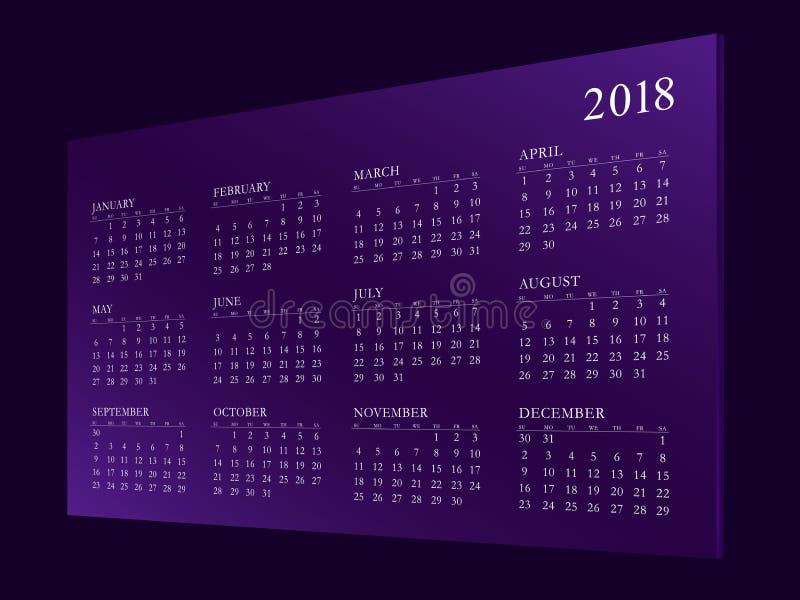 Haga calendarios por el año 2018 fotografía de archivo