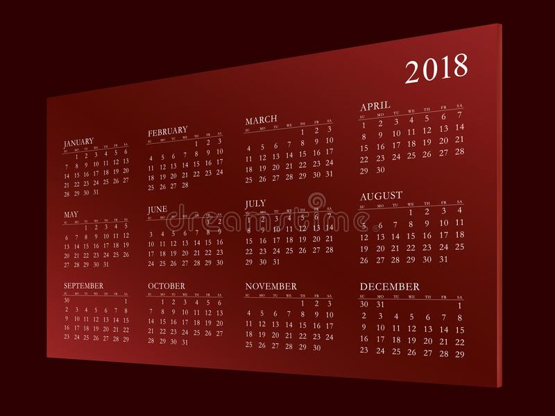 Haga calendarios por el año 2018 foto de archivo