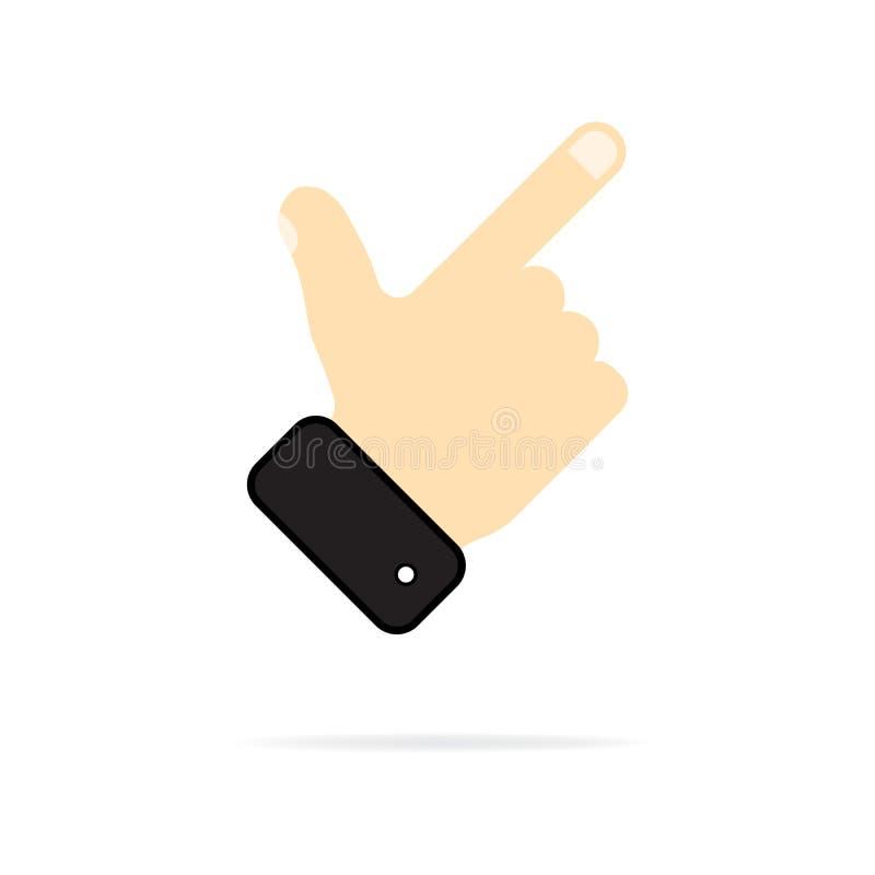 Haga clic el icono en un estilo plano de moda aislado en un fondo blanco El símbolo de la escritura para su diseño de la página w libre illustration
