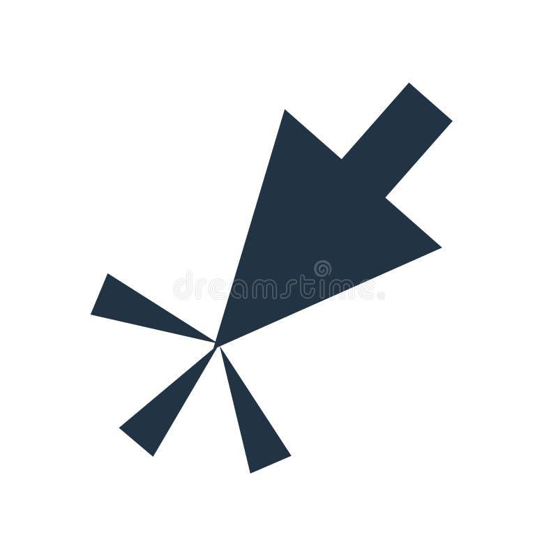 Haga clic el vector del icono aislado en el fondo blanco, muestra del tecleo stock de ilustración