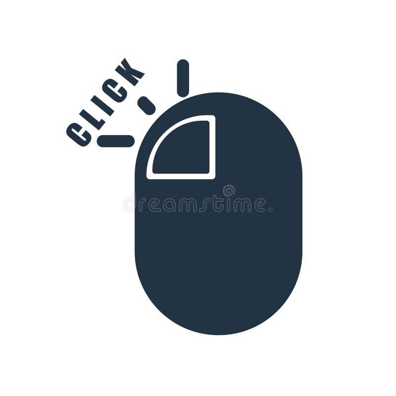 Haga clic el vector del icono aislado en el fondo blanco, muestra del tecleo libre illustration