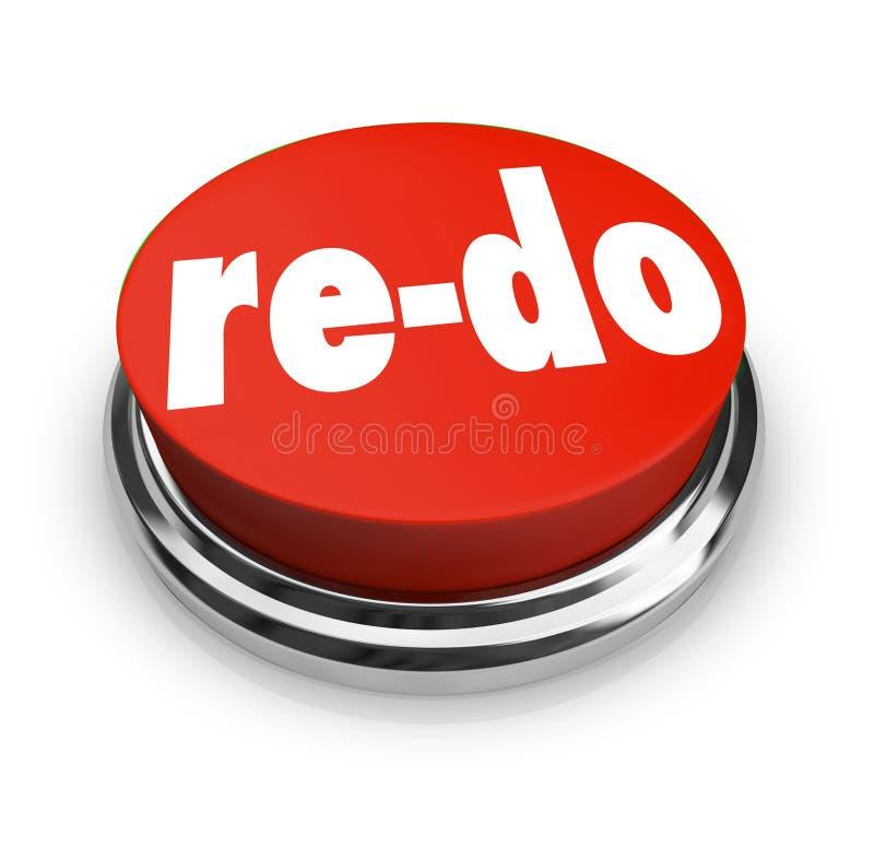 Haga de nuevo el botón rojo hacen de nuevo la mejora de la revisión del cambio libre illustration
