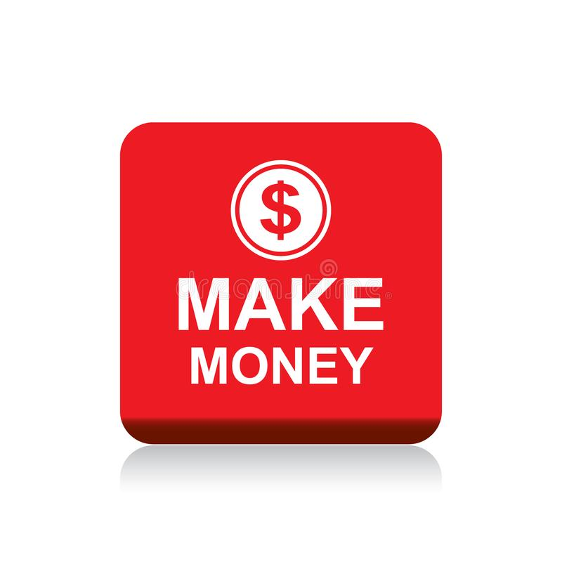 Haga el botón del web del dinero ilustración del vector