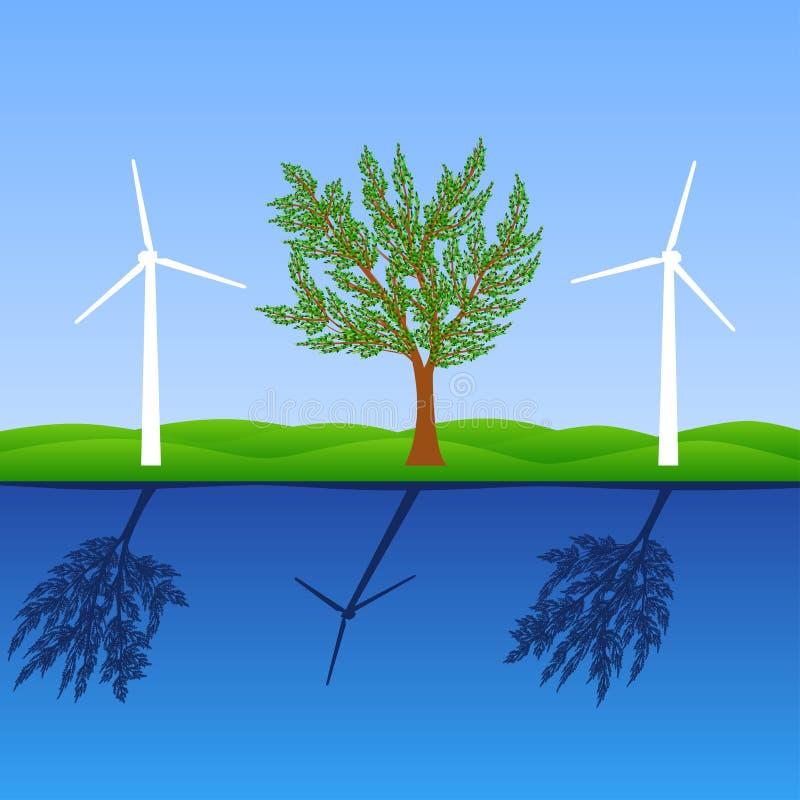 Haga el mundo un lugar más verde ilustración del vector